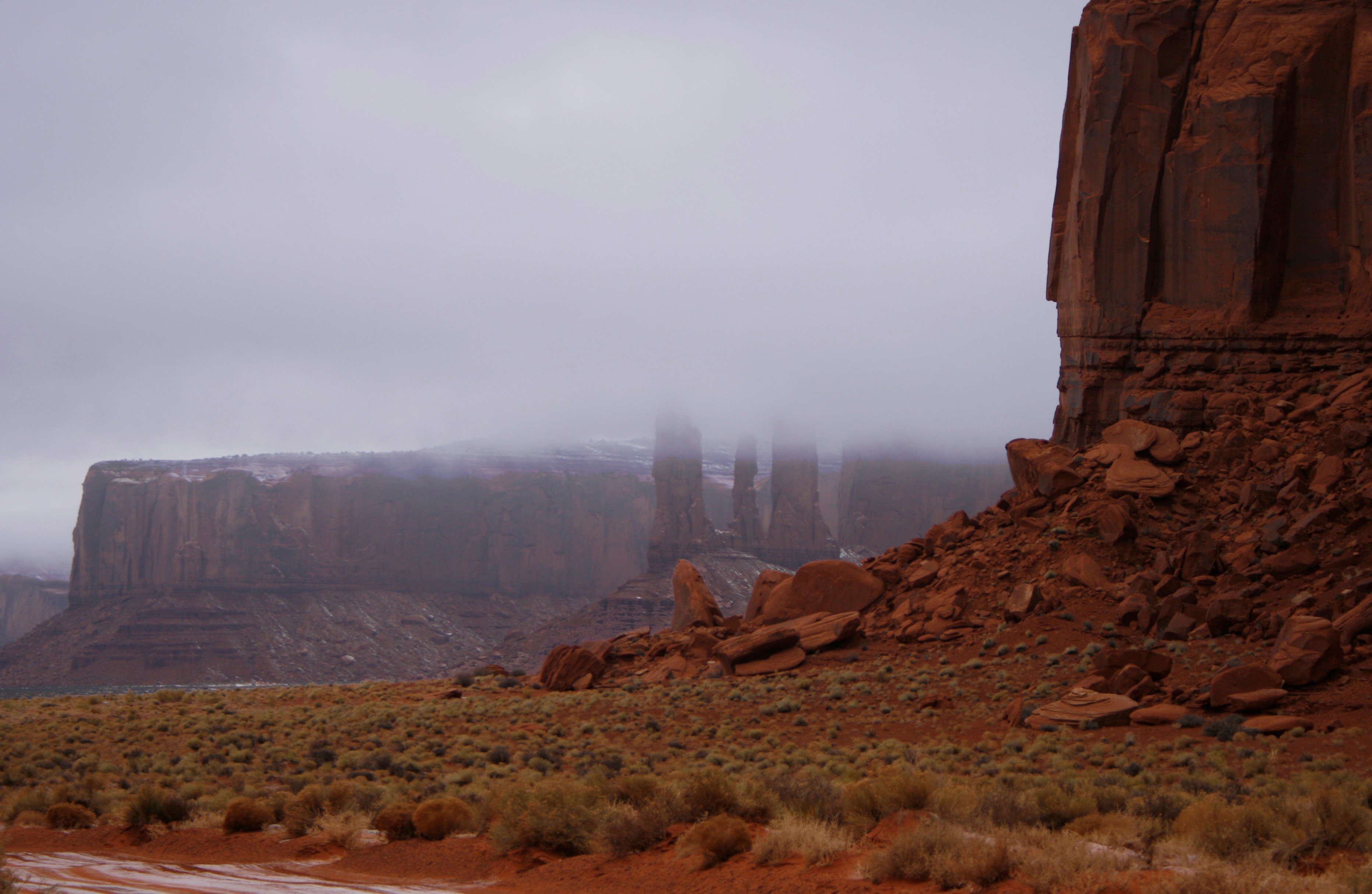 Monument Valley in wintertime, TRY IT!